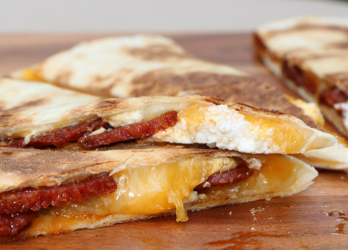 A-13 CHORIZO AND GOAT CHEESE QUESADILLA