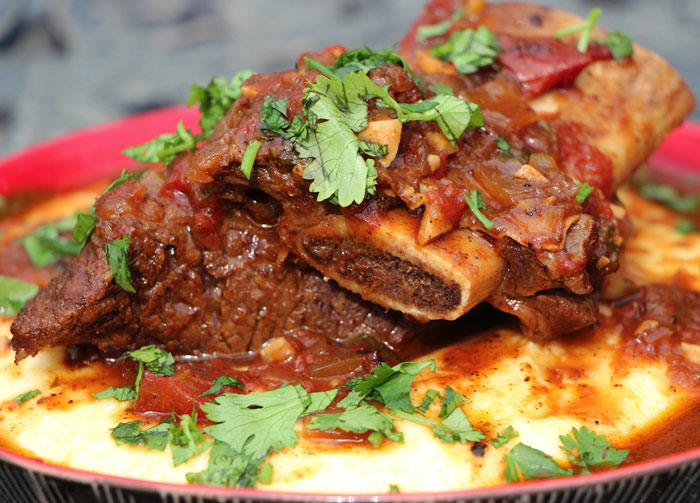 > Recipes > Beef > Ancho Chile Rubbed Beef Short Ribs with Cilantro ...