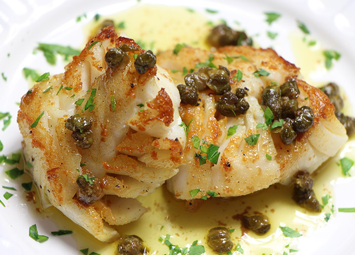 Striped Bass with Capers and Hazelnut Brown Butter Recipe from ChefIAm ...